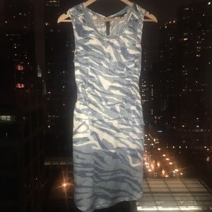 Banana Republic Blue and White Silk Dress XS
